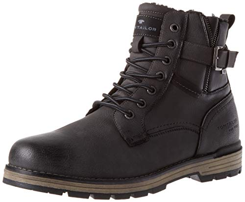 Tom Tailor Mens 9080503 Mid Calf Boot Bootie Boot, Gray, 9 UK