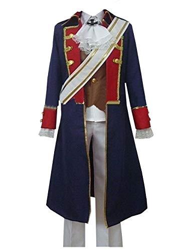 LVCOS APH Axis Powers Hetalia Prussia Cosplay Costume Halloween (Male M) Blue
