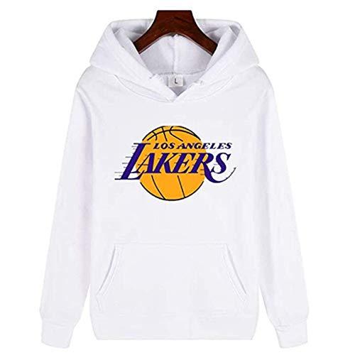 Nest Home Herren Basketball Hoodie - Herren Pullover Lakers 23# Kapuzenpullover, Langarmpullover Top Casual Hoody mit Koalatasche (Weiß, S)