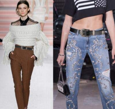Vintage Waist-Belts with Hollow Out Flower Buckle 4