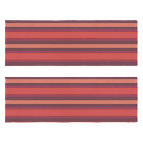 Toallas de gimnasio de ladrillo rojo grueso rayas impresión secado rápido microfibra deporte entrenamiento sudor toalla para hombres y mujeres paquete de 2