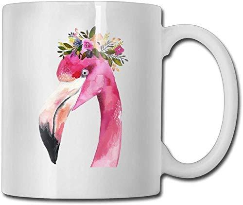 11 oz koffie mok, thee mok, mooie roze Flamingo hoofd met slinger koffie mokken kerstcadeau keramische thee beker, het perfecte cadeau voor familie en vrienden, leuke witte koffie beker
