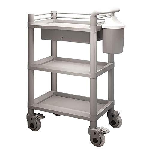 Jian E riemschijf keukentrolley 3 dieren multifunctionele wagen met lade en opbergdoos, commerciële schoonheidssalon rollenuitrusting, wagen, medische gereedschapswagen //