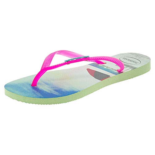 Havaianas Slim Paisage, Infradito Donna, Multicolore (Apple Green 2532), 33/34 EU