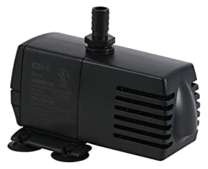 EcoPlus 160 GPH (605 LPH, 10.5W) Submersible Water Pump w/ 6 ft Power Cord | Aquarium, Fish Tank, Fountain, Pond, Hydroponics