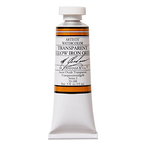M. Graham 1/2-Ounce Tube Watercolor Paint, Transparent Yellow Iron Oxide (33-188)