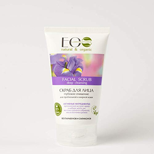Gommage facial nettoyant en profondeur à l'extrait d'iris avec pépins de raisin et d'abricot 150 ml