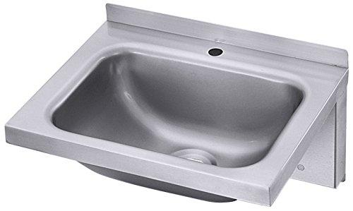 Handwaschbecken aus Edelstahl 18/10, zur Wandmontage / Abm.: 40 x 31 x 19 cm | ERK