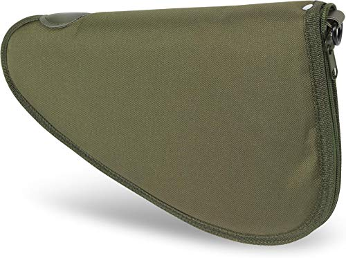 normani Abschließbare, weich gepolsterte Pistolentasche mit umlaufendem Reißverschluss und Abschließvorrichtung Farbe Oliv Größe L