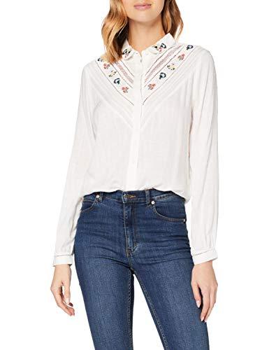 Superdry Womens Sandy EMB Shirt Blouse, Off White, XXS (Herstellergröße:6)