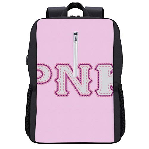 Monster University Fraternity Python Nu Kappa PNK Travel Backpack Laptop Backpack with USB Port Backpack Suitable for 15.6-inch Laptop Backpack