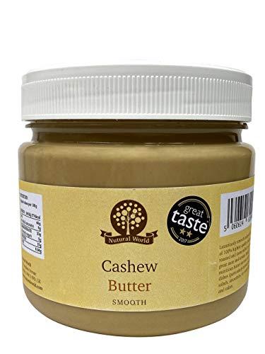 Nutural World - Mantequilla Suave de Anacardo (1kg) Galardonado al Mejor Sabor