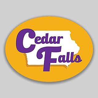 JMM Industries Cedar Falls Iowa Vinyl Decal Sticker Car Window Bumper 2-Pack 4.5-Inches by 3.5-Inches Premium Quality UV-P...