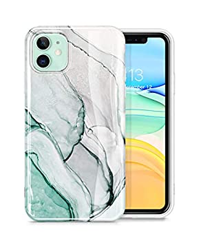 GVIEWIN Marble Compatible with iPhone 11 Case Ultra Slim Thin Glossy Soft TPU Rubber Gel Phone Case Cover Compatible with iPhone 11 6.1 Inch 2019  Agaria/Cyan