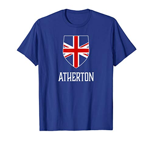 Atherton, England - British Union Jack UK T-shirt