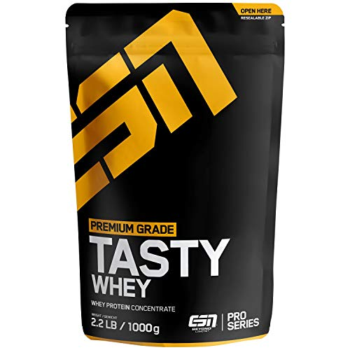 ESN Tasty Whey Protein – 1000g – Natural – Molkenproteinkonzentrat reich an EAAs und BCAAs – Instant – 33 Portionen – Made in Germany