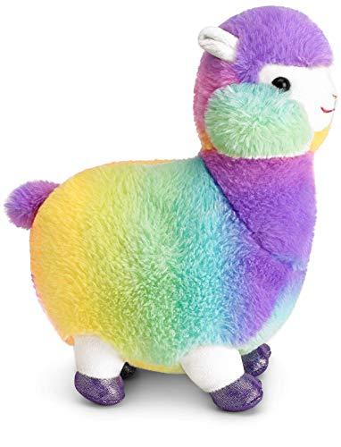 Mousehouse Gifts - Llama de peluche con pelo de arcoíris - Suave - 32cm
