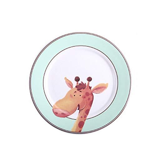 Gymy Juego de platos occidentales, platos del hogar, platos de frutas, vajilla infantil, cuencos de cerámica y platos
