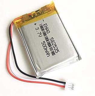 YUNIQUE Espagne ® 1 batería de Litio Recargable Pieza 3.7 V 500 mAh con Conector JST 1.0Mmmetres 3pin 582535 para Mp3 GPS Cámara Bluetooth
