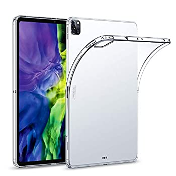 ESR Rebound Soft Shell Case for iPad Pro 11 2020 & 2018 Clear TPU Back Cover Supports Pencil Wireless Charging Slim-Fit Shell Case for iPad Pro 11  Translucent