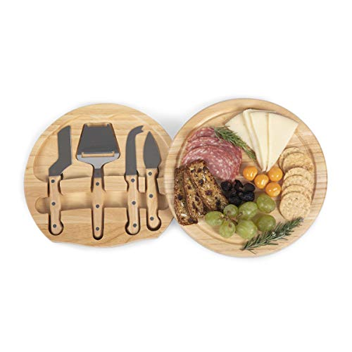 TOSCANA - a Picnic Time Brand Circo Cheese Board with Cheese Tools
