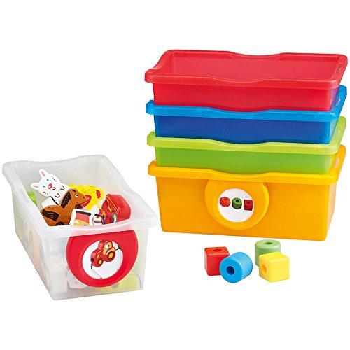 Petits bacs multicolores - Lot de 5