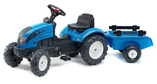 Falk 2050C Landini Powermondial 110 - Tractor a pedales con remolque, color azul