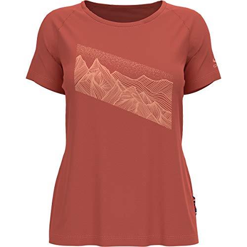 Odlo Camiseta para Mujer Concord Burnt Sienna, L