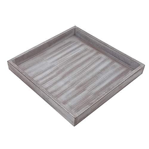 ToCi Dekotablett Holz Tablett 25 x 25 cm Deko Schale Dekoration Shabby Chic Vintage