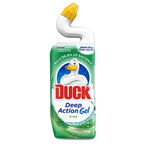 Duck Toilet Bowl Cleaner Liquid, Deep Action Gel, Pine, 750 ml