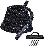 cuerdas Heavier rope Cuerda de ejercicios ponderados   Cuerda de batalla pesada   Para hombres mujeres saltando la cuerda de entrenamiento de la cuerda Equipo de gimnasio Regalos de entrenamiento