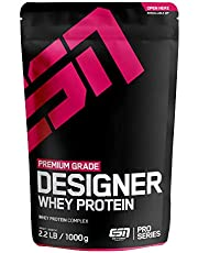 ESN Designer Whey Protein – 1000g – Vanilla – Eiweißpulver reich an essentiellen Aminosäuren (EAAs) – Sehr gut löslich – 33 Portionen – Made in Germany