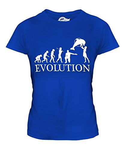 Candymix Aquarium Evolution des Menschen Damen T Shirt, Größe 2X-Large, Farbe Königsblau