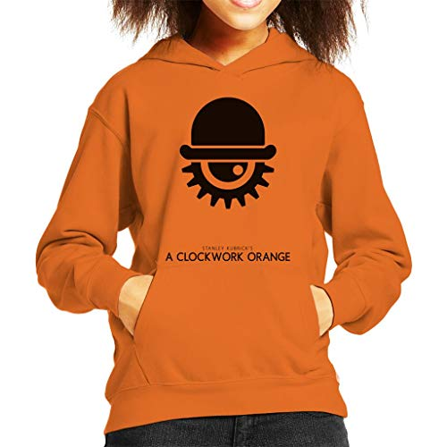 A Clockwork Orange Hat and Eye Movie Silhouette Kid's Hooded Sweatshirt