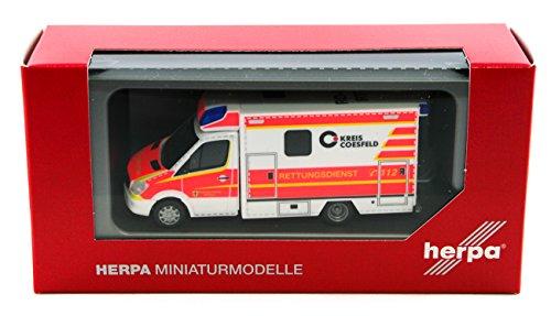 Herpa 93675 - Mercedes-Benz Sprinter Fahrtec RTW Rettungsdienst Dülmen, farbig