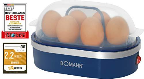 Bomann EK 5022 CB Eierkocher, Zubereitung von bis zu 6 Eiern, akkustisches Signal (Summer), blau