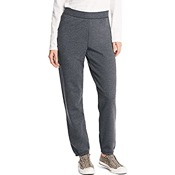 Hanes Women s EcoSmart Cinched Cuff Sweatpants Slate Heather Medium