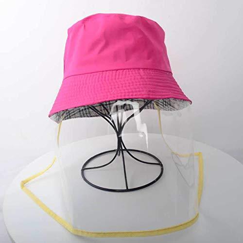 TOHHOT maskers emmer met beschermkap Baseballpet winddicht hoed roze niet afneembaar eenheidsmaat