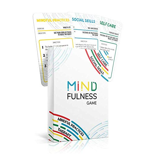Mindfulness Therapy Game: Teaches Social Skills, Self Care & More for Kids, Teens & Adults. 50 Cards