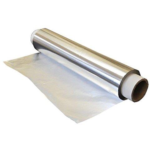 BAMI 2 Rollen Alufolie á 150m, 29cm (10 My), 1350-1360gr. Aluminiumfolie Alurolle superstark, reißfest
