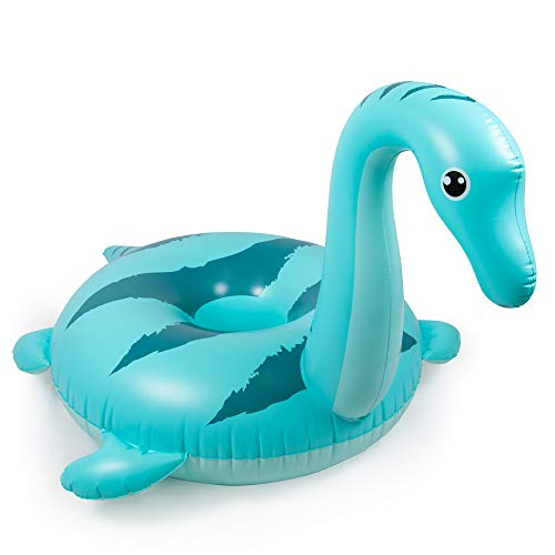 Jumbo Nessie Pool Float | Cute Sea Monster | 5 Feet Long Giant PVC Inflatable Floatie Raft for Inner Tube Summer Fun, Beach Vacation, Kids Pool Parties, and Backyard Relaxation