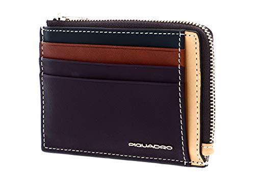Piquadro Dafne Credit Cards Holder RFID Melanzana/Cuoio