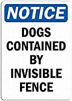 安全標識-通知-犬が含まれています。 金属錫サインUV保護および耐候性サイン通知サイン