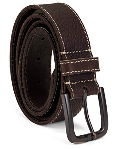 Timberland Men's Leather Belt 40mm, Brown (Stitched), 38