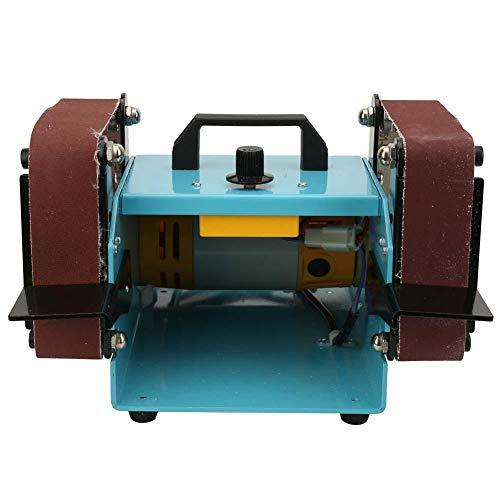 Bandschleifmaschine, elektrische Doppelkopfschleif Desktop Bandschleifer Poliermaschine 950 Watt 220 V Welle Bandmaschine