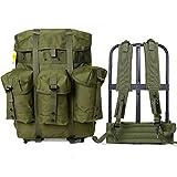 Mochila militar Alice Pack Army Survival Combat Field Mochila con marco Olive Drab, Alice Medium...