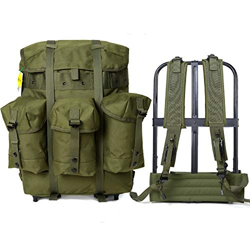 Mochila militar Alice Pack Army Survival Combat Field Mochila con marco Oliva Drab, Alice Medium Pack Od, Mid Size, Olive Drab