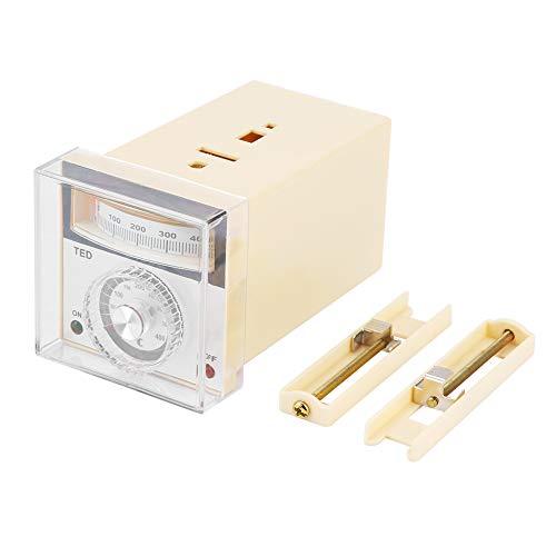 Controlador de temperatura, puntero tipo K TED-2001 Controlador de temperatura con puntero tipo K Termostato tipo K para control de temperatura 0-400 ℃ 220VAC