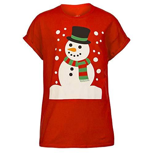 Onyou Femmes Dames Nouveau Christmas Unisex Printing New York Brooklyn Rayure Imprimer Surdimensionné Bouffant T-Shirt Haut