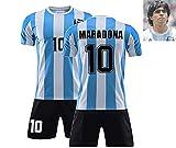 CNQXG Diego Maradona,Camiseta Futbol Retro Maradona Argentina 1986,Adiós, Mano Izquierda De Dios